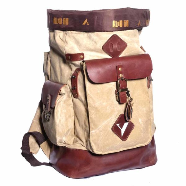 product image backpack oasis waxed cotton